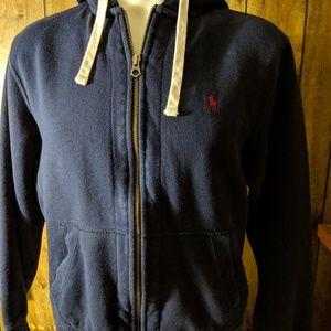 Large Ralph Lauren blue hoodie